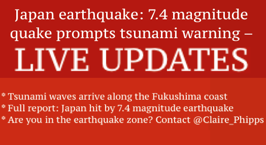 earthquake tsunami Japan