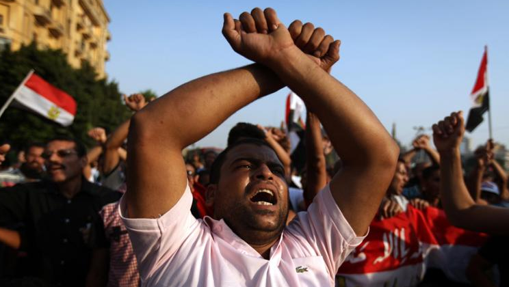 Egypt Islamics demonstrate before election
