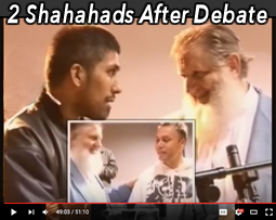2 shahadahs after debate