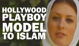 converts reverts play boy bunny to Islam