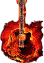 music fire guitar 02