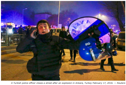 Ankara Turkey blast kills 20