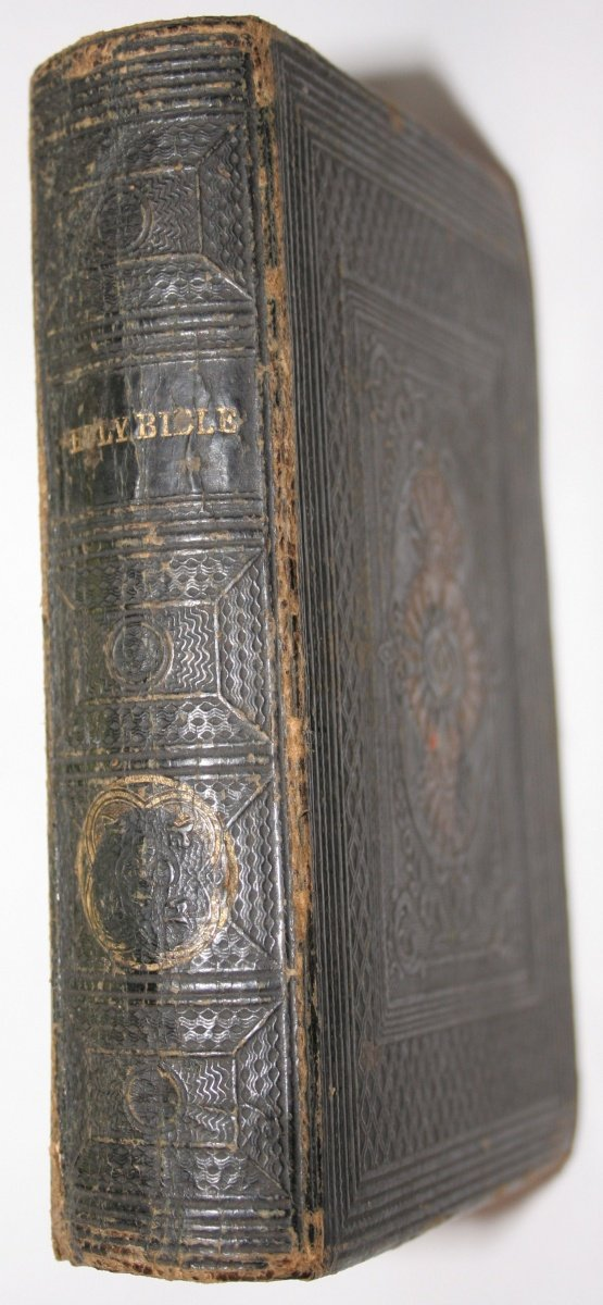 bible leathercover spine
