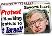 Israel Protest of Hawking Boycott