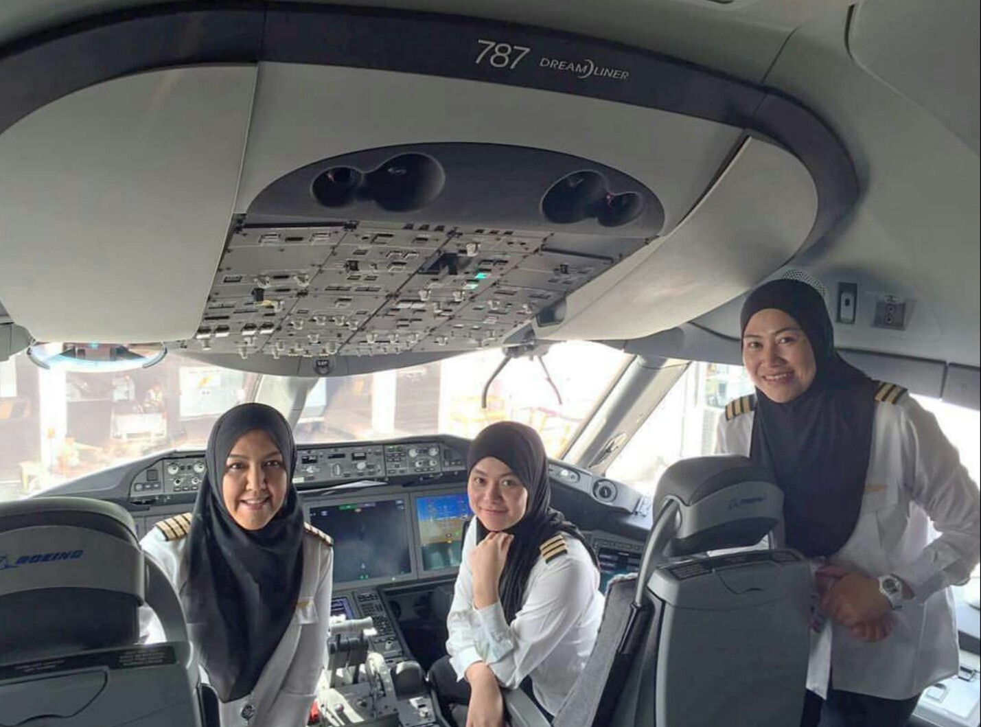 Muslim women in Flight