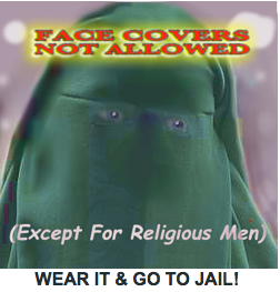 Ban Face cover in France