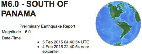 Earthquakes 2015 02 05