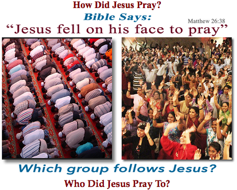 Jesus prayed how to who