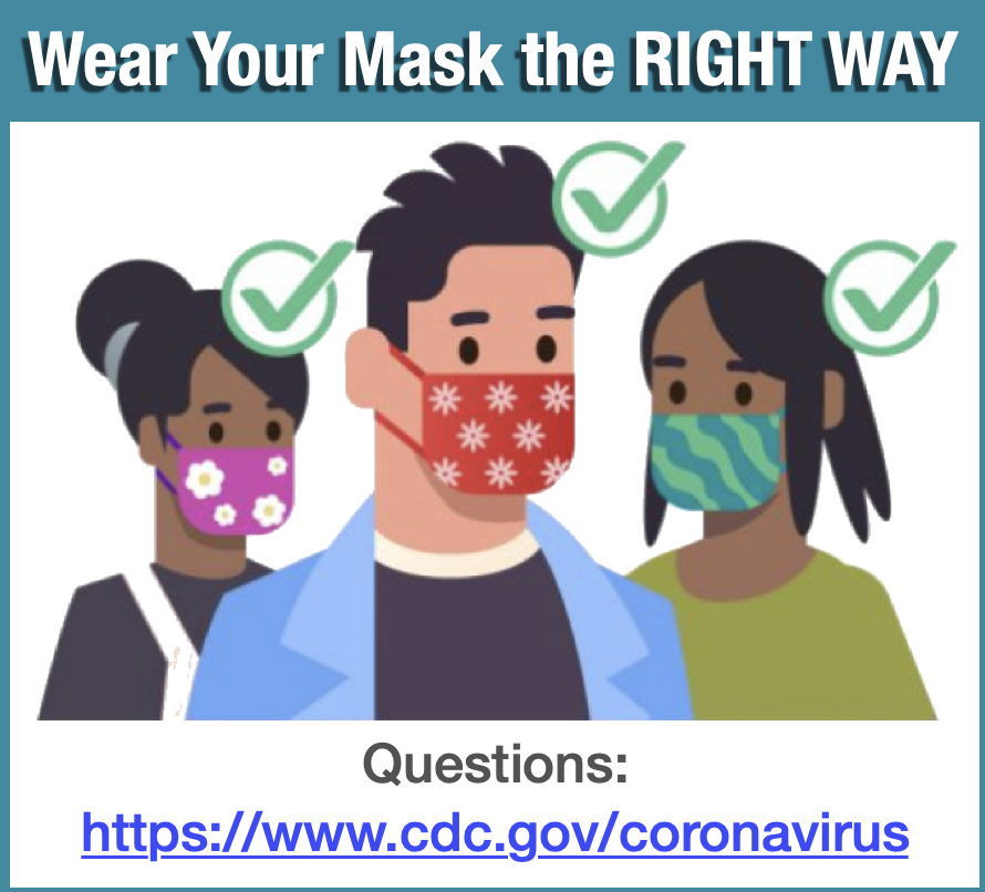 CDC masks right way