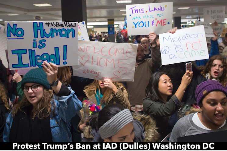 Dulles protest