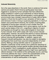 earthquakes artificially induced sm1