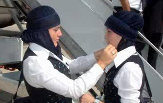 hijab Egypt airways2